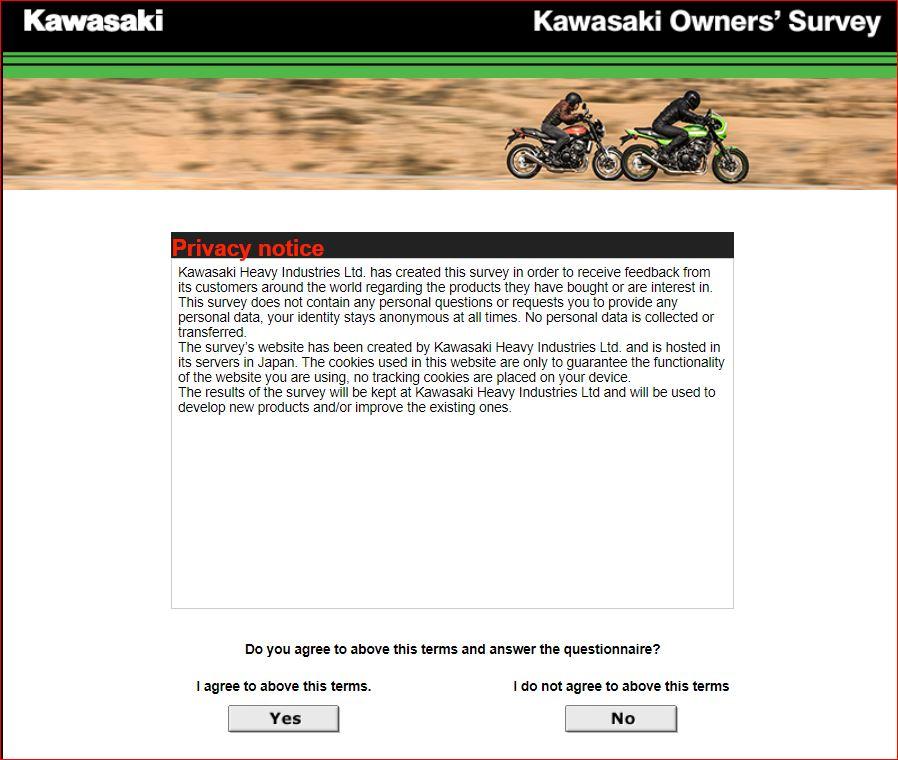 Kawasaki Guest Feedback Survey