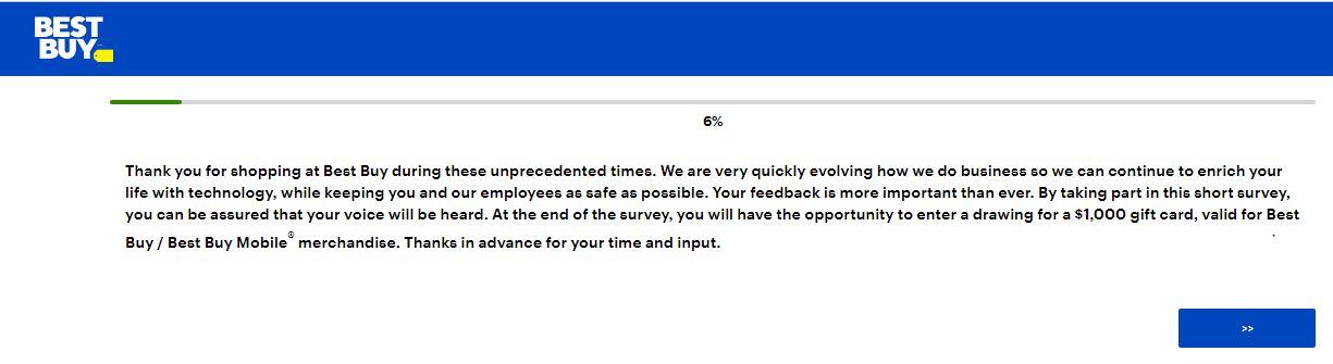 Best Buy Customer Survey