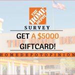 www.homedepot.com/survey $3000 official home depot survey