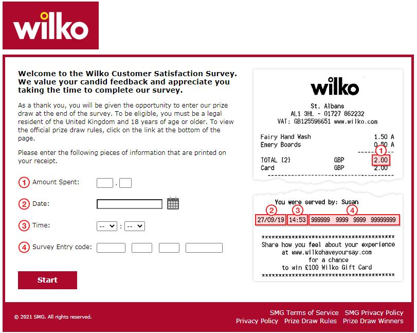 Wilko Have Your Say Survey