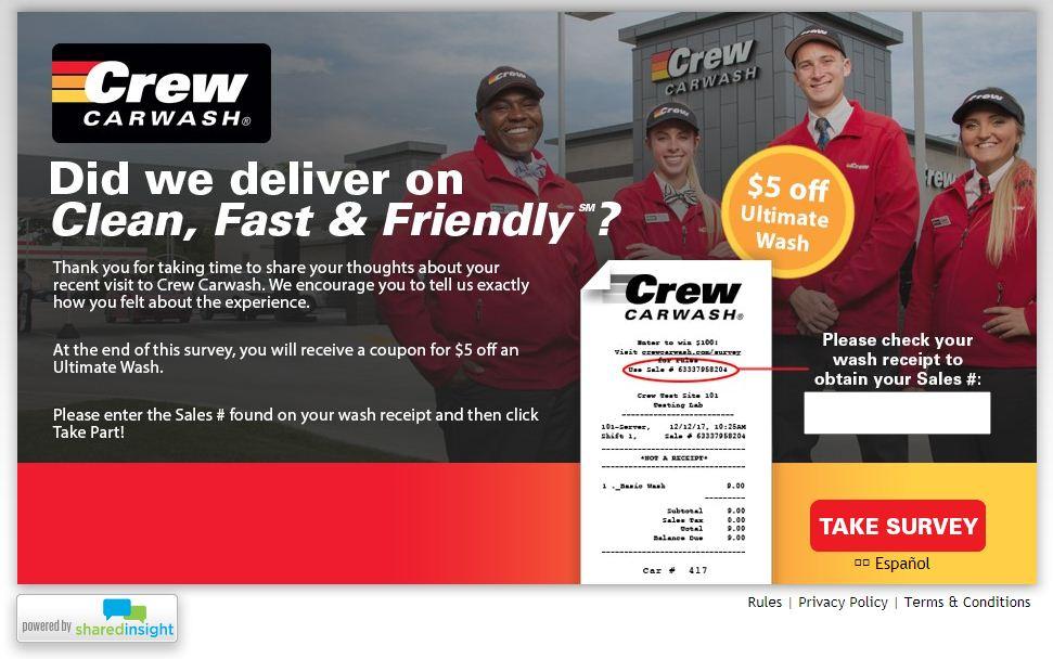crewcarwash.com/survey