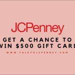 JCPenney Survey on www.talktojcpenney.com – Win $500 Gift Card