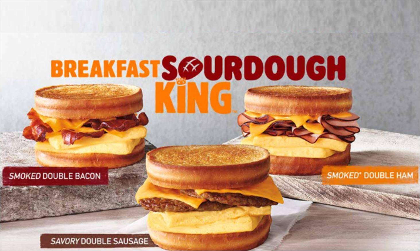 Burger King all-day breakfast menu