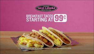 Taco Cabana Breakfast Menu