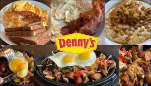 Denny's Breakfast Menu